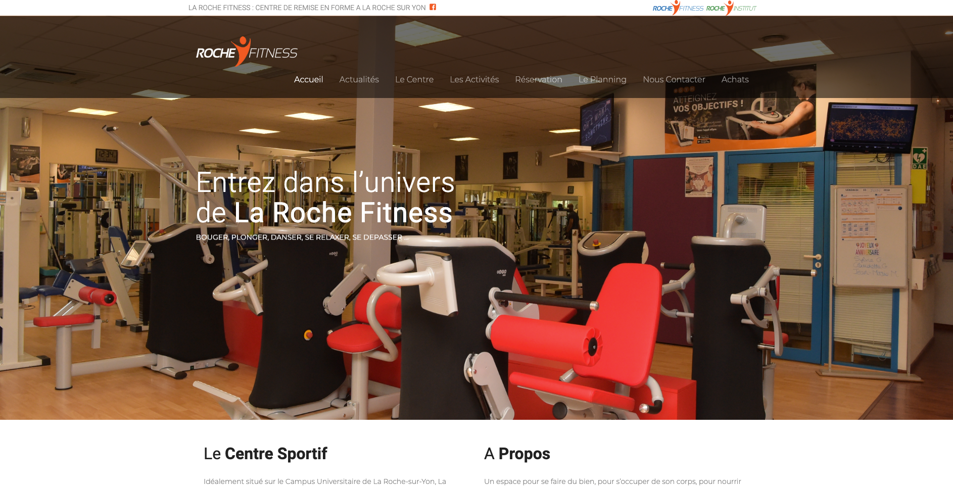 Site internet Laroche Fitness
